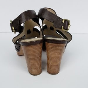 Brooks Brothers Shoes - Brooks Brothers Slingback Stacked Heel Brown SZ 7
